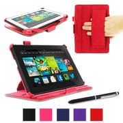 """rOOCASE Slim-Fit Case Cover For 7"""" Amazon Kindle Fire HD, Red"""