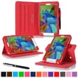 "rOOCASE Dual-View Case Cover For 7"" Samsung Galaxy Tab 4, Red"