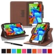 rOOCASE Dual-View Folio Case Cover For Samsung Galaxy Tab 4 8.0, Brown