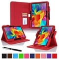 rOOCASE Dual-View Case Cover For 10.1in. Samsung Galaxy Tab 4, Red