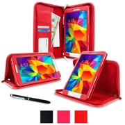rOOCASE Executive Carrying Case For 8 Samsung Galaxy Tab 4, Red