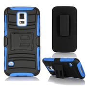 GearIT High Impact Hybrid Armor Case Cover With Stand Holster For Samsung Galaxy S5, Blue