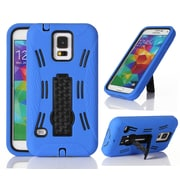 GearIT Galaxy S5 Rugged High Impact Hybrid Armor Case Cover Stand, Blue