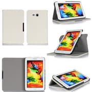 GearIT Galaxy Tab 3 Lite 7.0 Spinner Folio Case Cover, Cream White