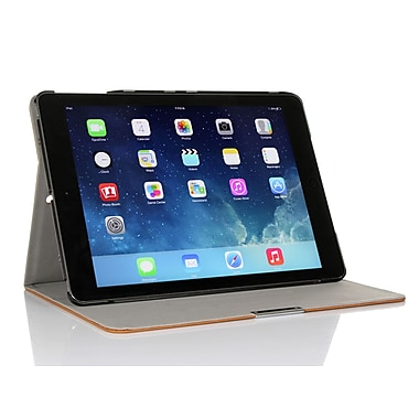 GearIT Spinner APAIR360SPINBG Twill Fabric Folio Case for Apple iPad Air, Beige