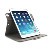 roocase APAIRDV360CGY Polycarbonate 360 Rotating Dual-View Detachable Stand Case for Apple iPad Air 5th Generation, Canvas Gray
