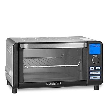 Cuisinart TOB-100BW Compact Digital Toaster Oven Broiler, Black