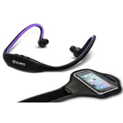 Aduro Sport Wireless Stereo Bluetooth Headset & Armband, Purple