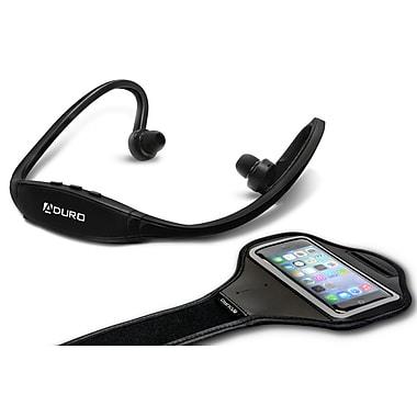 Aduro Sport Wireless Stereo Bluetooth Headset & Armband, Black