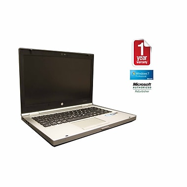 Refurb HP 8460P CORE I5-2.5GHz Processor, 4GB memory, 500GB Hard drive, DVDRW, 14 Display, Windows 10 Pro 64bit with Webcam