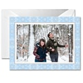 Crane & Co. William Arthur Boxed Holiday Photo Mount Greeting Card, Snowflakes, 10 Envelopes/Box