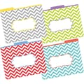 Barker Creek Letter 1/3-Cut Chevron Beautiful Decorative File Folder, Multi-Color, 12/Pack