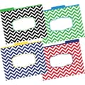Barker Creek Letter 1/3-Cut Chevron Nautical Decorative File Folder, Multi-Color, 12/Pack