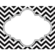 Barker Creek All Grades Self-Adhesive Name Tag, Black/White Chevron
