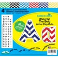 Barker Creek 4in. Letter Pop-Outs, Nautical Chevron
