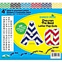 Barker Creek 4 Letter Pop-Outs, Nautical Chevron