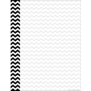 Barker Creek 8 1/2 x 11 Decorative Computer Paper, Black Chevron