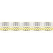 Barker Creek Double-Sided Trim, Gray/Yellow Chevron