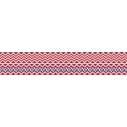 Barker Creek Double-Sided Trim, Red/Navy Chevron
