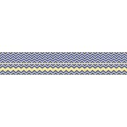 Barker Creek Double-Sided Trim, Navy/Yellow Chevron