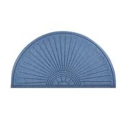 "HomeTrax Designs 169F0024BU 23"" x 44"" Guzzler Sunburst Door Mat, Blue"