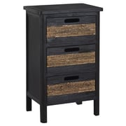 Gallerie Decor Bali 3 Drawer Cabinet; Espresso