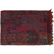 "Surya TNL1000-5580 55"" x 80"" 50deg Cotton/50deg Wool Throw"