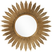 "Surya MRR1006-4747 47"" x 47"" Frame made from MDF Mirror, aged gold"