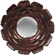 """Surya MRR1019-3232 32"""" x 32"""" Metal Frame Mirror, antique bronze"""