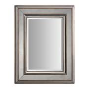 "Surya RWM2000-2836 28"" x 36"" Metal Frame Mirror, Antique Silver"