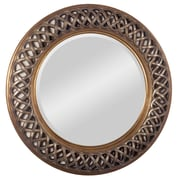 "Surya RWM2002-3636 36"" x 36"" Resin Frame Mirror, Bronze"