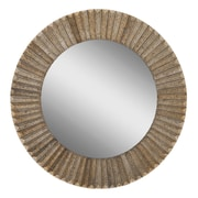 "Surya RWM2004-2828 28"" x 28"" Frame made from wood Mirror, Bronze"