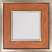 "Surya RWM2009-2727 27"" x 27"" Frame made from wood Mirror, Brown/Silver"