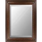"Surya RWM2012-3648 36"" x 48"" Frame made from wood Mirror, Golden Brown"