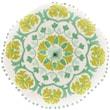 Surya Suzani Decorative Pillows 100% Linen AR136-16RD ,Beige, Kelly Green, Moss & Sea Foam