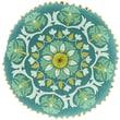 Surya Suzani Decorative Pillows 100% Linen AR137-16RD ,Forest, Kelly Green, Moss & Sea Foam