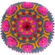 Surya Suzani Decorative Pillows 100% Linen AR139-16RD ,Burnt Orange, Cherry, Magenta & Navy