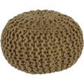 Surya FGPF-001 14in. x 20in. x 20in. Wool Pouf