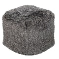 Surya POUF-88 18in. x 18in. x 18in. Polyester Pouf, Black Olive