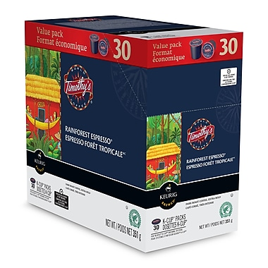 Timothy's Rainforest Espresso K-Cup, 30 Refills