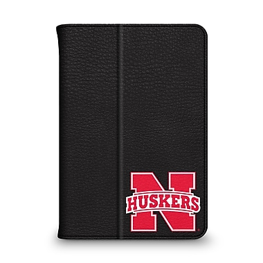 Centon Leather Folio Black Carrying Case For iPad Mini, University Of Nebraska