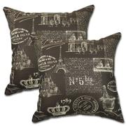 Big Tree Furniture Paris Polyester Throw Pillow (Set of 2); Chocolate