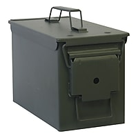 Buffalo Tools Army Style Metal Storage Box (Green)