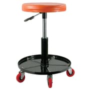 Black Bull™ Adjustable Roller Seat For Home Workshops and DIY's, Orange/Black