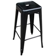 "Buffalo Tools AmeriHome 30"" Metal 4 Piece Bar Stool Set, Black"