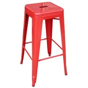 "Buffalo Tools AmeriHome 30"" Metal 4 Piece Bar Stool Set, Red"