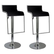 "Buffalo Tools AmeriHome 36"" ABS Plastic Adjustable Height 2 Piece Bar Stool Set, Black"