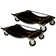 Buffalo Tools Black Bull™ 2 Piece Steel Car Dolly Set, Black