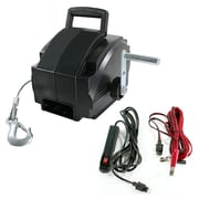 "Buffalo Tools Sportsman™ 12 V Portable Electric Winch, 9 1/2""H x 9 3/4""W x 13""D, 6000 lbs."