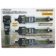 Buffalo Tools Sportsman™ 4 Piece Ratchet Tie Down Set
